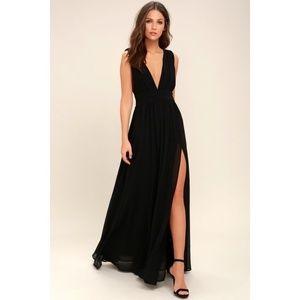 Heavenly Hues Black Maxi Dress